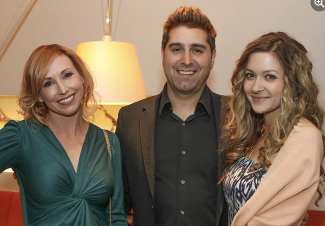 Tory Belleci with his wife Erin Bothamley and co-host Kari Byron