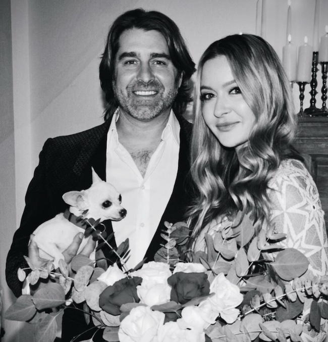 Tory Belleci with his wife Erin Bothamley on wedding day
